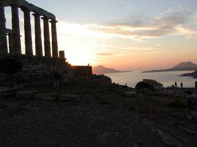 Photograph of the Temple of Poseidon