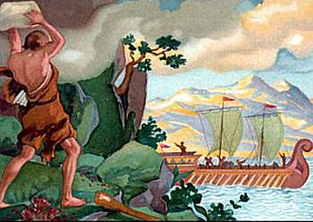 an analysis of of the scene of the discovery of the cyclops polyphemus in the odyssey by homer The odyssey: book 9 - odysseus and polyphemus cyclops scene 1 - duration: homer: the odyssey - book 9 summary and analysis.